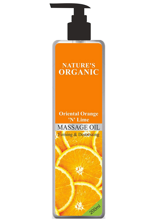 Natures Orange 'N' Lime Massage Oil
