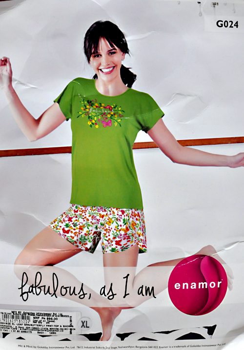 Enamor Shorts Nightwear G024