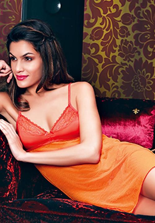 Enamor Short Orange Nightwear N018