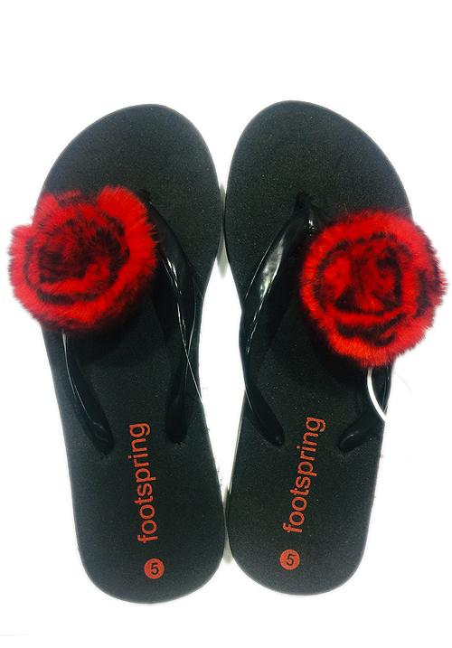 Essentials red flower footwear