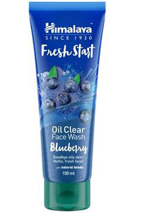 Himalya  fresh start oil clear blue berry face wash