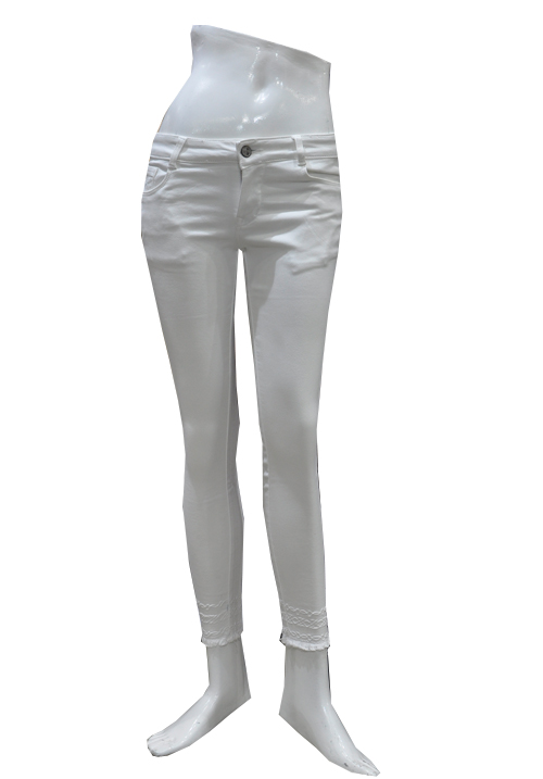 Airways White Ankle Jeans 8481