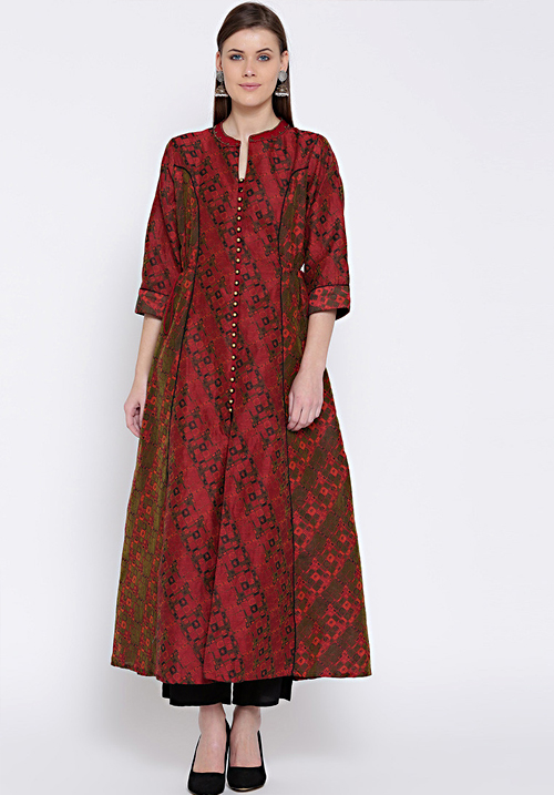Shree Chanderi Printed Kurta