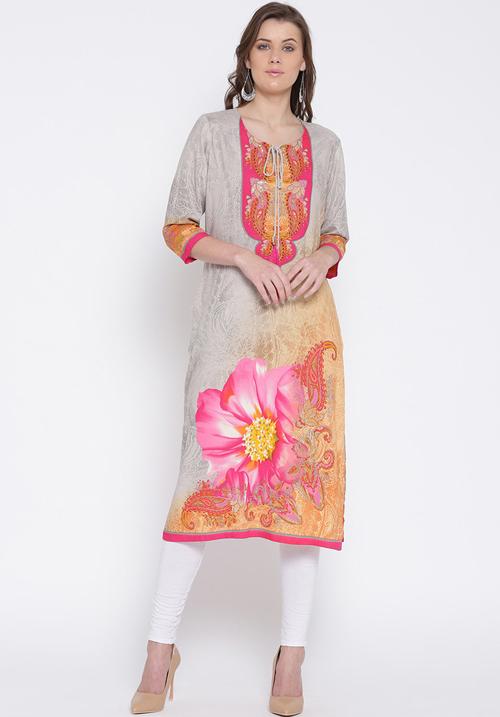 Shree Printed Flower Pink Kurta