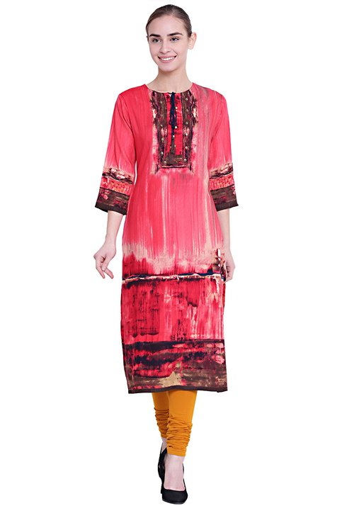 Shree Alluring Red Printed Kurta