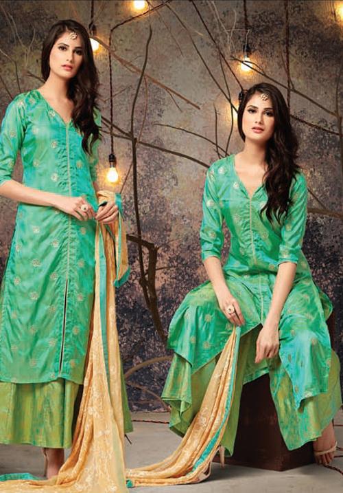 Etiquette Green Kurta FW24
