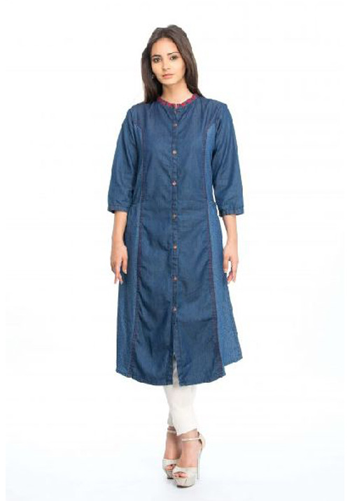 Etiquette Blue Denim Kurta K601