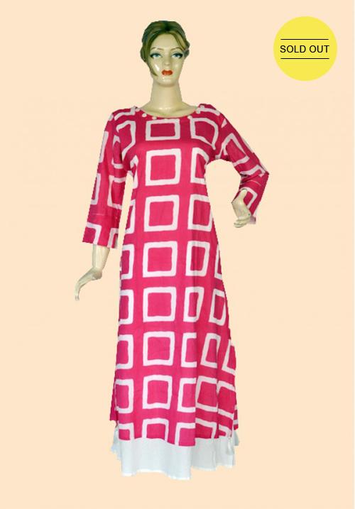 Femigo Pink Cotton Kurta FDN5399