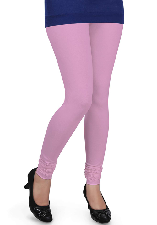 Femigo Women Churidar Baby Pink Legging