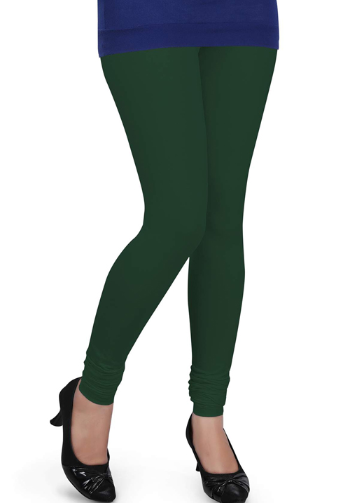 Femigo Women Bottle Green Legging