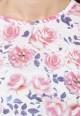 Moda Floral Round Neck Top