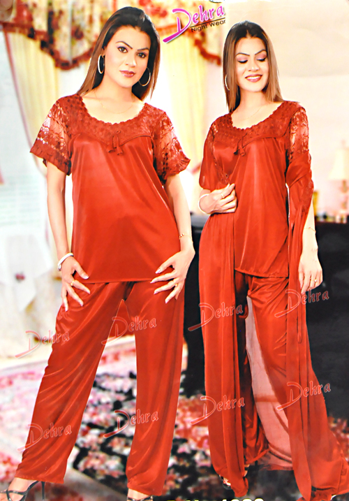 Essentials 3 PC Night Suit Set 1020
