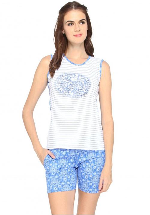 Valentine Sky Shorts Night Suit 14609