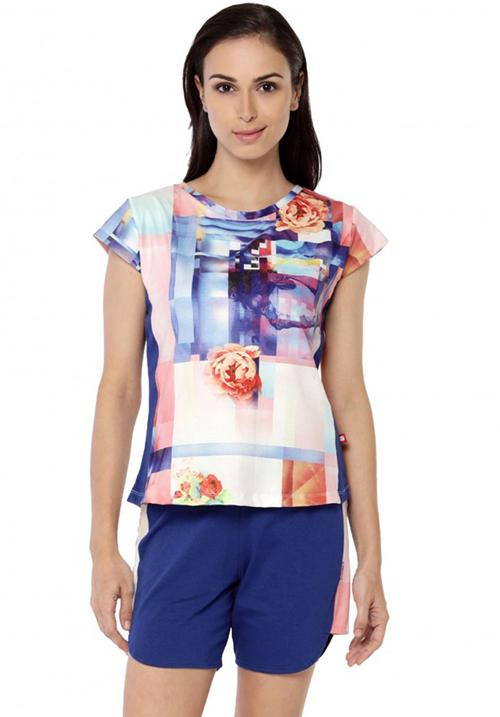 Valentine Blue Shorts Night Suit 14621