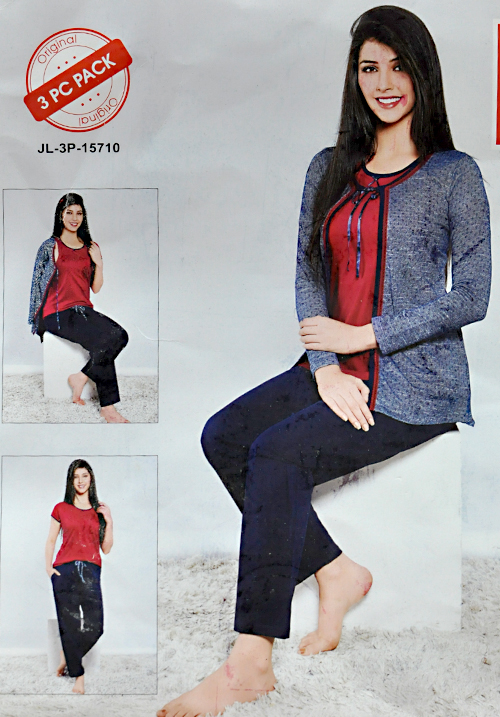 Juliet Blue 3 PC Pre-Winter Night Suit
