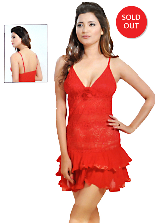 Angelina Red Bridal Nighties 123