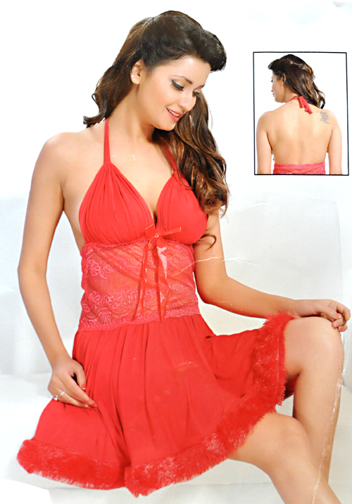 Angelina Red Bridal Nighties 172