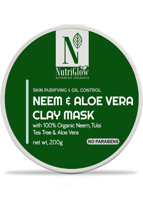 Nutriglow Neem & Aloevera Clay Mask