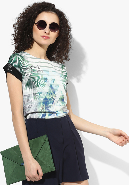 Opt Multicoloured Printed Blouse