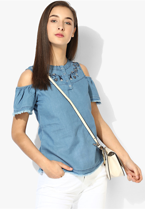 Opt Denim Blue Top Opt