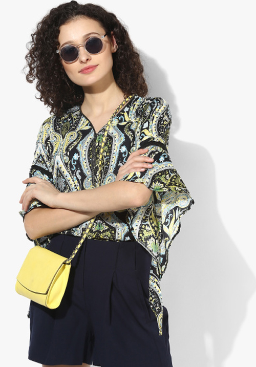 Opt Multicoloured Printed Top