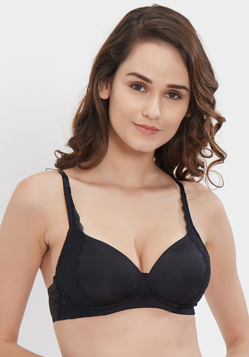 Soie Covered padded non-wired bra