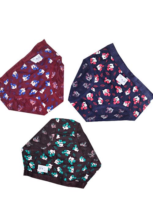 Trylo 3 Piece Flower Print Panties