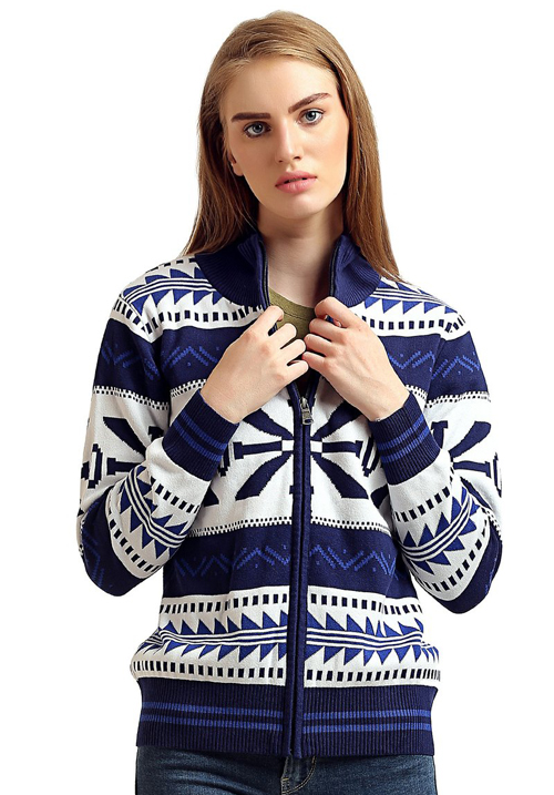 Moda Zipper Hooded Sweatshirt 1068 Navy