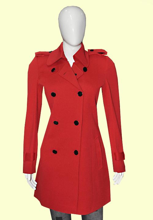 Okane Red Long Coat 6801