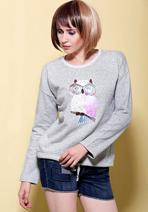 Moda Funk Owl Full Sleeve Top