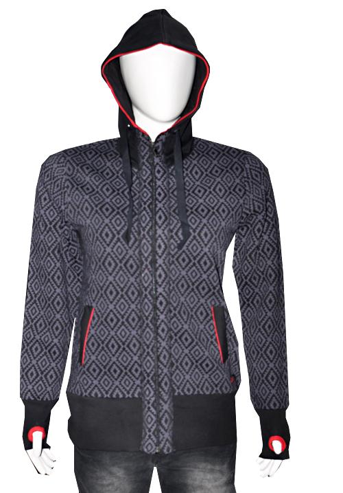 Moda Zipper Hooded Sweatshirt 1626