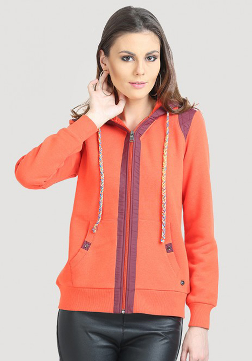 Moda Zipper Hooded Sweatshirt 1633
