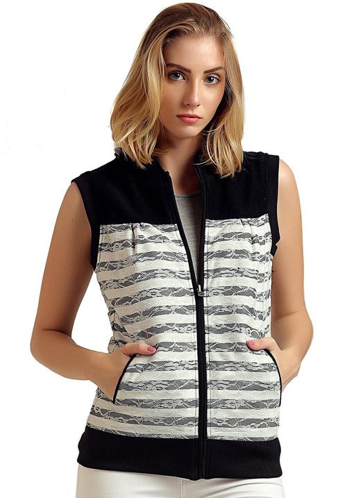 Moda Zipper Hooded Sweatshirt 1634
