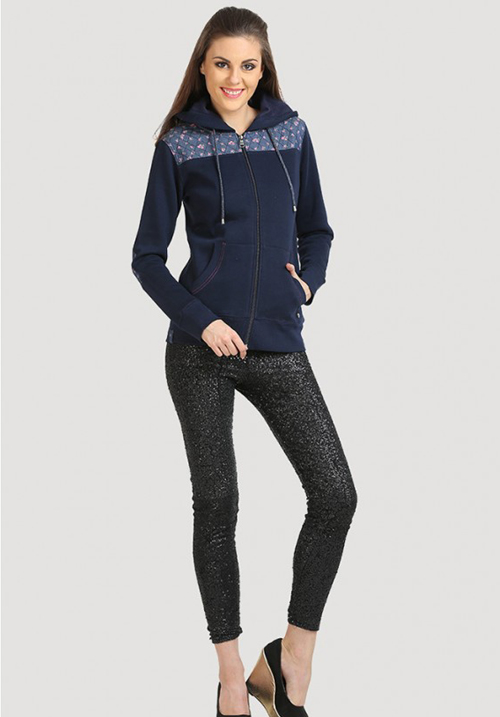 Moda Zipper Hooded Sweatshirt 1635