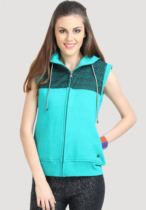 Moda Zipper Hooded Sweatshirt 1640