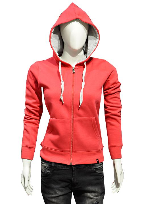 Moda Zipper Hooded Sweatshirt 1699