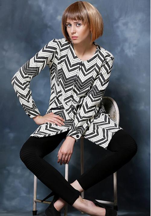Moda Zipper Hooded Sweatshirt 1718