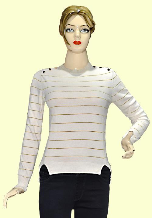 Moda Winter Sweatshirt 4713 White