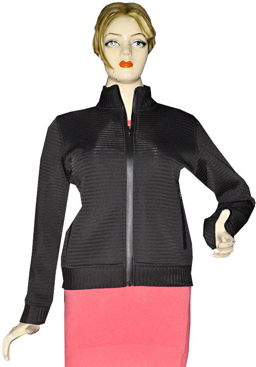 Essentials Black Stripe Zipper