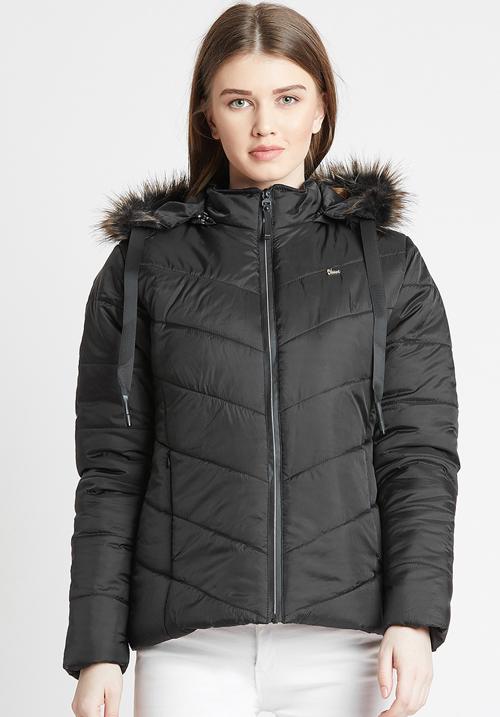 Okane Black Puffer Jacket 6701