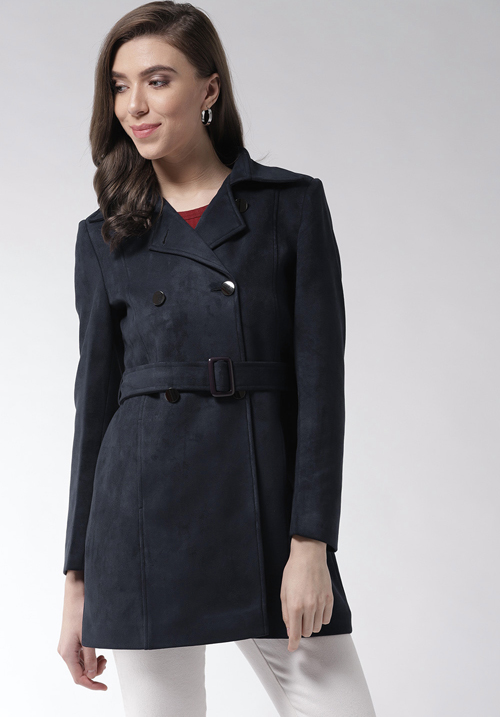 Okane Navy Long Coat 6811
