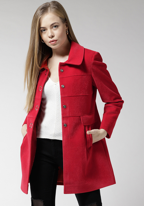Okane Red Long Coat 5605