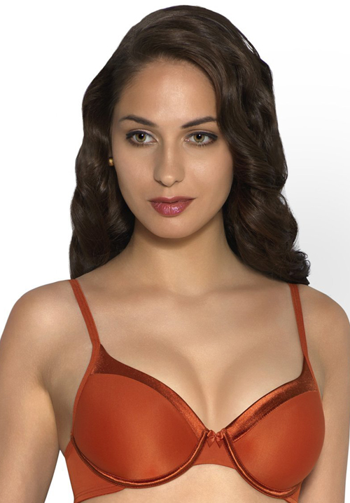 Amante Satin Padded Wired Bra
