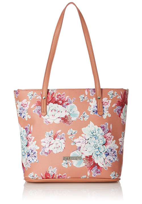 Caprese Burro Tote Bag Blush Peach