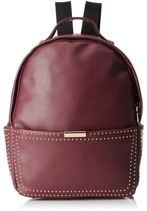 Caprese Daisy Shoulder Bag Maroon