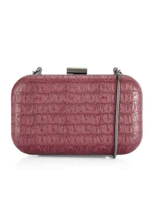 Caprese London Clutch Croc Maroon