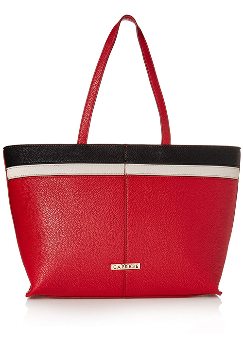Caprese Philis Tote Bag Red-Grey-White