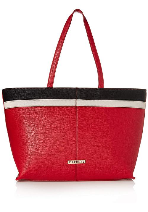 Caprese Philis Tote Bag Red-Grey-White