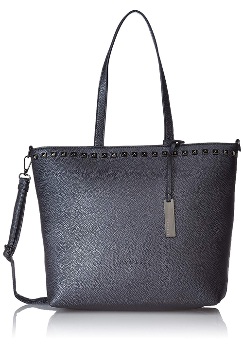 Caprese Tote Bag Metallic Grey