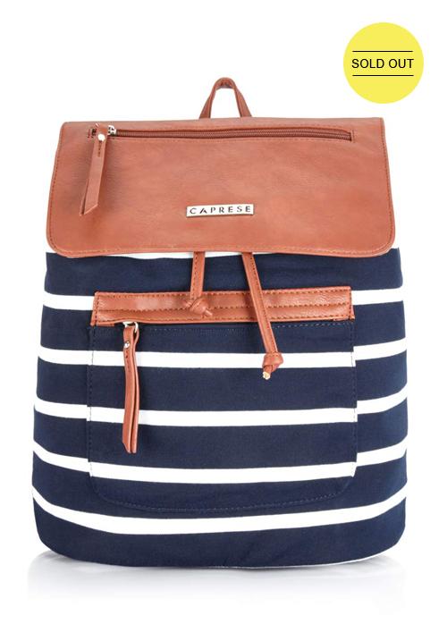 Caprese Shoulder Bag Navy-Saddle